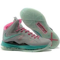 84a447e780a Nike Air Max LeBron James X 10 Night light Grey/Moon/Pink Basketball shoes