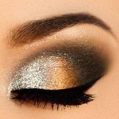 Idea maquillaje para año nuevo.
