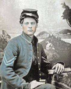 8 by 10 Civil War Photo Print Young Union Corporal