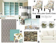The Yellow Cape Cod: Online Designs  office color scheme