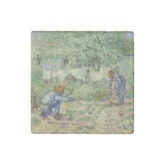 First Steps after #Millet by Vincent Van Gogh #VanGogh #Stone #Magnet