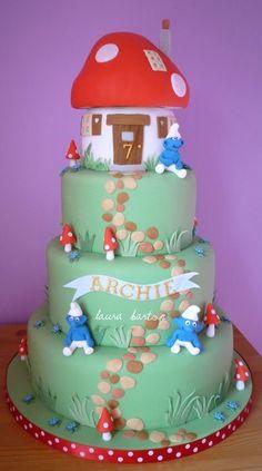 smurf cake NO LINK
