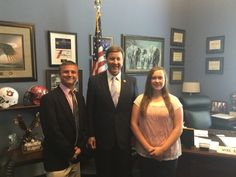 Great to meet with these two students from St. Clair County!