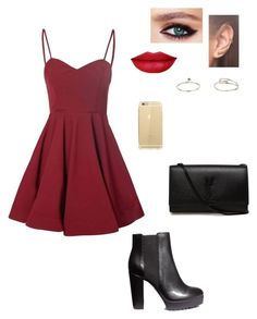 """""""Untitled #137"""" by emmaruus on Polyvore featuring Glamorous, H&M, Yves Saint Laurent, Charlotte Tilbury, Annoushka and Topshop"""