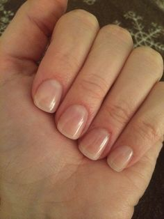 Clear gel nails!