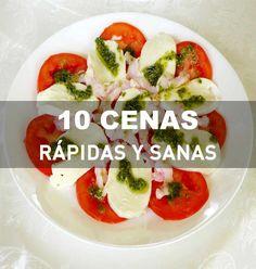 10 cenas rápidas y sanas. Recetas paso a paso. Veggie Recipes, Real Food Recipes, Vegetarian Recipes, Cooking Recipes, Healthy Recipes, Healthy Snacks, Healthy Eating, Healthy Dinners, Light Recipes