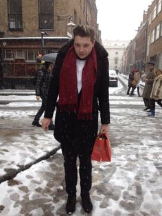 John Newman Snowy Season on the street