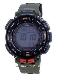 Resin Case, Resin Strap, Mineral Crystal, Solar Movement, Digital Display, Digital Compass, Barometer. Used Watches, Watches For Men, Seiko 5 Military, Casio Protrek, Seiko Automatic, Watch Display, Watch Model, 100m, World Of Sports