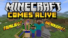With Minecraft Comes Alive, players should expect their villages to– well– come alive!