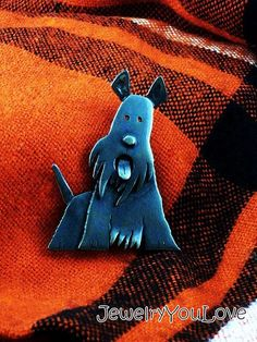 Sterling Silver Scottish Terrier Brooch - Piper