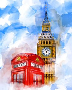"""London Dreaming - Red Telephone box and """"Big Ben"""""""