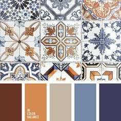 Color palette no. 3084 - Color palette no. Orange Color Palettes, Spring Color Palette, Colour Pallete, Colour Schemes, Blue Colour Palette, Paint Schemes, Kitchen Decor Themes, Kitchen Colors, Kitchen Tiles