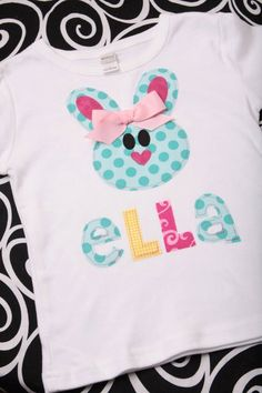 Etsy Transaction - Boutique Personalized Belle the Bunny Easter Applique Tee Shirt or Onesie