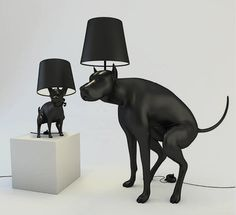 If It's Hip, It's Here: Defecating Dogs Brighten Up A Room. Pooping Dog Lamps By Whatshisname.