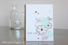 """Floral card for """"The Gossip column"""" challenge. #winnieandwalter"""