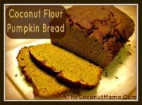 This delicious coconut flour pumpkin bread is grain free and dairy free, perfect for anyone avoiding grains or on the paleo diet.