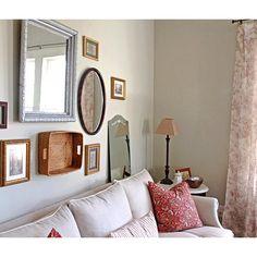 You can put anything as wall decoration, just like mirrors, photo frames, and basket! #decoration #walldecoration #roomdecor #dekorasiruangan #dekorasidinding #hiasandinding #mirror #cermin #photoframe #bingkaifoto