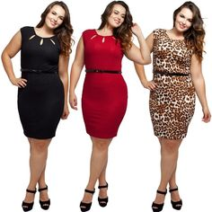 """Plus Size Cut Out Cap Sleeve Dress with Belt NWT. Black / Red / Animal Print. Chic, classy, sexy. The neckline cut out details of this cap sleeve dress is sexy and flattering, while the stretchy fabric would hug your curves perfectly. Comes with a black faux leather belt to complete the look, and a back zipper for ease of wear.   1X: 14-16W, 34-37"""" waist, 43-47"""" hip, 41-44"""" Bust.  2X: 18-20W, 38-41"""" waist, 47-50"""" hip, 45-48"""" Bust.  3X: 22-24W, 42-45"""" waist, 50-54"""" hip, 49-52"""" Bust.   90%…"""