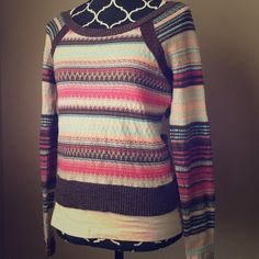 Free People Striped Sweater This is so comfy and I'm so sad it doesn't fit! Looks great with light beans. In perfect condition. I don't remember it ever fitting. Free People Sweaters Crew & Scoop Necks