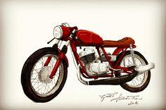 WFM M60 by RadoMade.ZrobiłRadosław Cafe racer custom 2T two stroke 125 www.fb.com/radomade.zrobilradoslaw