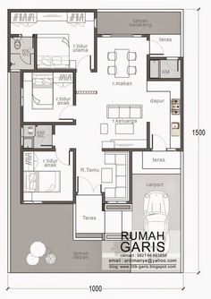 denah rumah tipe 90 di lahan meter yes House Layout Plans, New House Plans, Dream House Plans, House Layouts, House Floor Plans, Modern Floor Plans, Home Design Floor Plans, Contemporary House Plans, Three Bedroom House