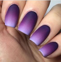 Purple Ambre nails <3