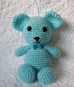 Bébé ours crochet amigurumi/Teddy bear par MiniCoconut sur Etsy