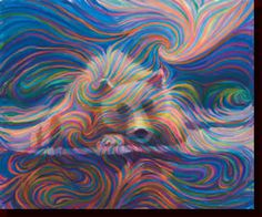 Bear by artist Julia Walkins   Her unique style is known as Energism Paintings.