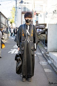 Dragon Kimono Coat, Mask, Devilish Harness & Milk Boy in Harajuku