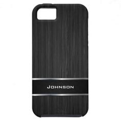 Just Sold again! Black Wood with Silver Metal Leather Label | iPhone 5 Covers
