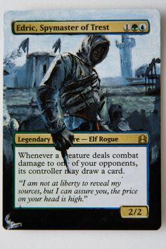Altair, Spymaster of the Trest ~ MTG Altered Art - Eldric, Spymaster of Trest