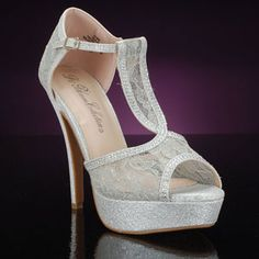prom Shoe, BLOSSOM VICE-25-SILVER Shoes for proms & proms