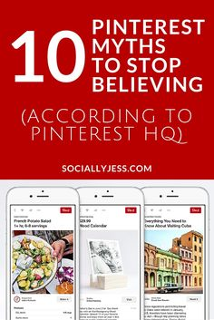 10 Pinterest Myths to Stop Believing (According to Pinterest HQ) - If you're using Pinterest, there are 10 myths floating around that you SHOULDN'T listen to. Pinterest UK HQ helped clear up 10 myths that you should stop listening to from Pinterest experts.