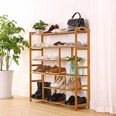 home Mllieroo Portable 6 Shelves Bamboo Shoe Rack Entryway Shoe Shelf Storage Free Standing Shoe Rac Shoe Organizer Entryway, Shoe Rack Organization, Shoe Storage Rack, Diy Shoe Rack, Storage Shelves, Shoe Racks, Storage Ideas, Smart Storage, Storage Solutions