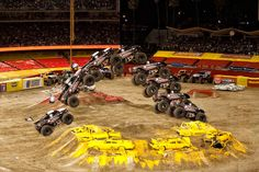 Deegan rolled into the stadium, revving up the motor of the Metal Mulisha Monster Truck. Rc Trucks, Lifted Ford Trucks, Monster Jam, Monster Trucks, Dodger Stadium, Metal Mulisha, Love Car, How To Look Pretty, Offroad