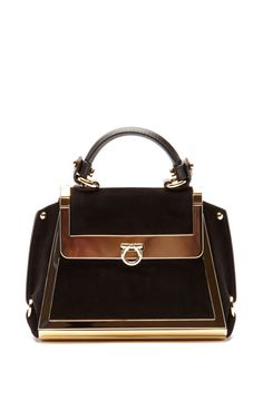 17a647d46e5a65 Sofia Handbag by Salvatore Ferragamo Suede Handbags, Best Handbags,  Beautiful Bags, Beautiful Handbags