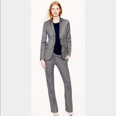 JCREW 1035 Grey 120s Suit - MUST HAVE, Size 4 JCREW 1035 Grey 120s 2 Piece Suit - MUST HAVE, Size 4. Every gal must have a power suit, this one is so versatile, can wear year round, wear separate or together, makes several outfits. Can wear to work, interview, special occasion, dress up or casual. Great condition. J. Crew Other