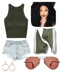 """""""Untitled #225"""" by nikkiemery ❤ liked on Polyvore featuring Ray-Ban, Topshop, Keds, Vince Camuto and Kylie Cosmetics"""