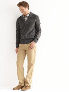 Heritage shawl-collar pullover