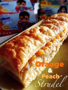 Baking Taitai: Quick & Easy Mandarin Orange Peach Strudel 简易橘子桃馅饼 (中英食谱教程)