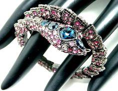 KJL Rhinestone Snake Bracelet Kenneth Jay Lane by thejewelseeker