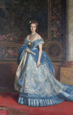 """""""Queen Margherita of Savoy"""" by Charles Edouard Boutibonne (1816-1897)."""