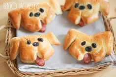 :) I'm very thankful to Mail Online for the article about my bento on Wednesday, . Cute Food, Good Food, Yummy Food, Sausage Bread, Bread Art, Dog Bread, Bread Shaping, Braided Bread, Bakery Recipes