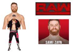 """Sami Zayn 2016 WWE draft"" by anaeve ❤ liked on Polyvore"