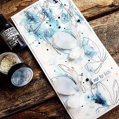 "Andrea Moritz on Instagram: ""wild butterfly ... so siehts aus, wenn Magicals zum Einsatz kommen. #alexandrarenke #lindystampgang #lindysgang #magical #handmadecards…"""