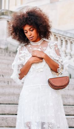 Solange Knowles, Tommy Ton, Paris Fashion Week, PFW. Street Style. Chloe Nile Bag.