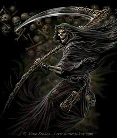 Anne Stokes. Grim Reaper