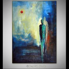 ORIGINAL Art LARGE Abstract Oil Painting Figurative Painting - The Seeker - 40x28 - Original Modern Art by BenWill