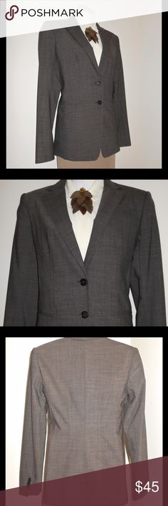 """BROWN ANN TAYLOR VIRGIN WOOL BLAZER SIZE 2 This well made, virgin wool blazer is a classic Ann Taylor treasure. Tailored lines give it a perfect fit. The brown color will take you right through the Fall season. 🍂🌰🍂🌰🍂 Size 2 2 faux front slit pockets, back shoulder to shoulder: 16"""", underarm to end of sleeve: 18, waist: 32"""" Ann Taylor Jackets & Coats Blazers"""