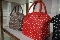 Lulu Guinness bags. Lip print on leather.